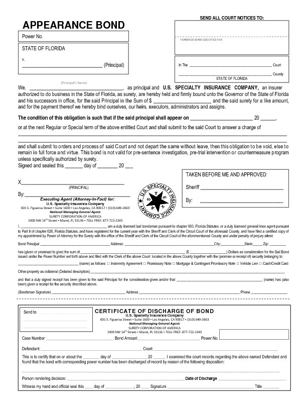 Bond Release Form